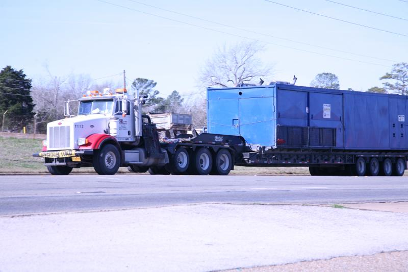 Tractor Trailer Rig - Over-sized Load - oilfield equipment